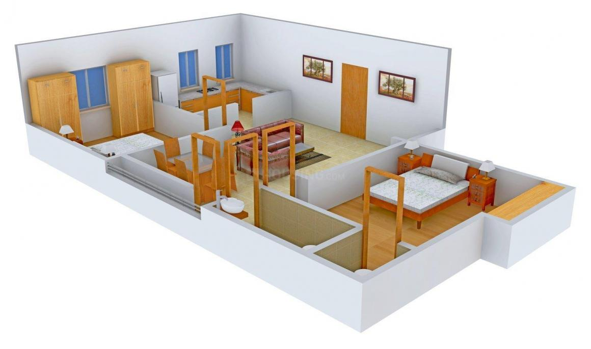 Floor Plan Image of 0 - 1155.0 Sq.ft 2 BHK Apartment for buy in Durai Starlite Apartments