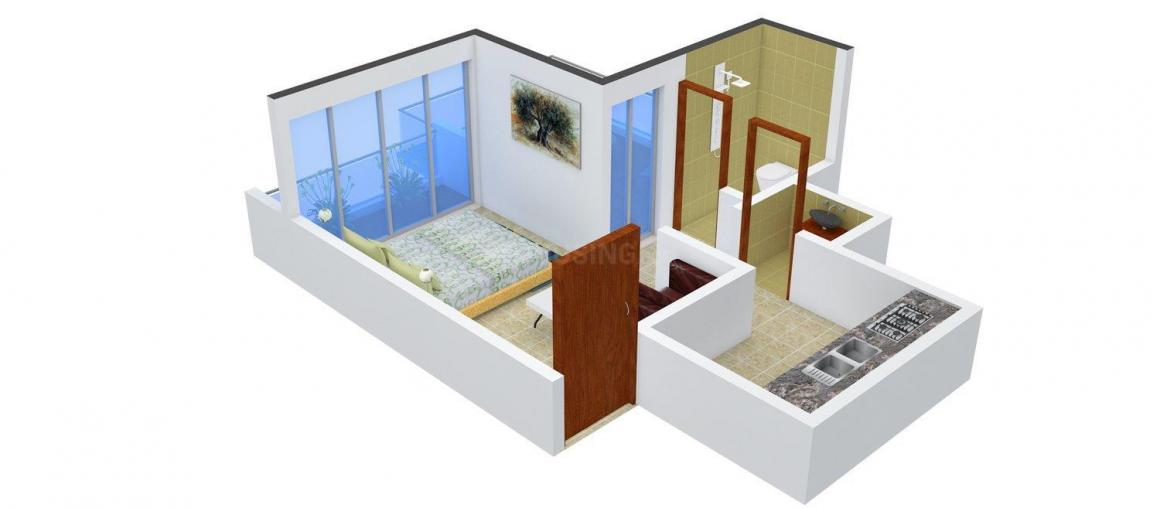 Floor Plan Image of 450.0 - 650.0 Sq.ft 1 RK Apartment for buy in Sai Homes Prabhu Niketan
