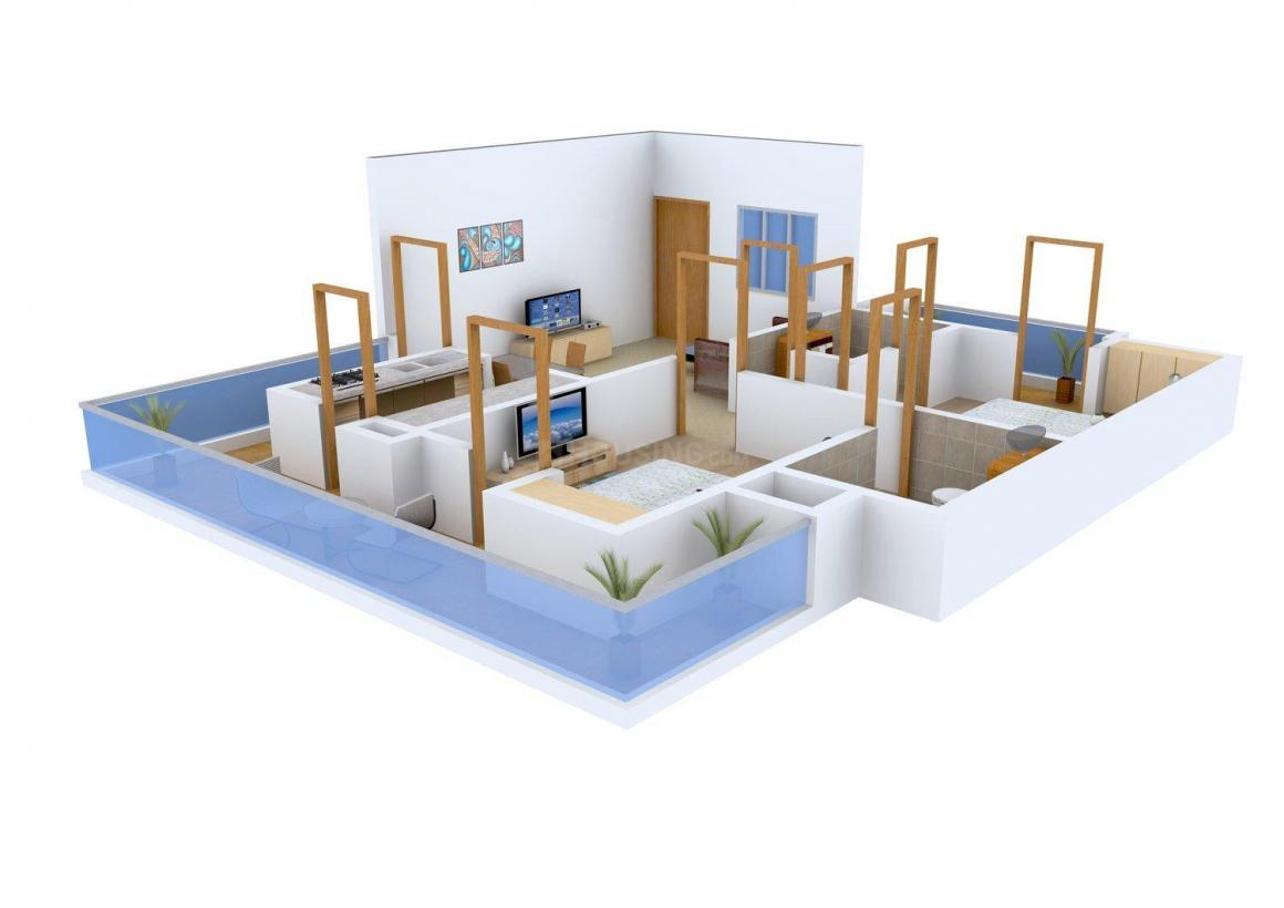 Floor Plan Image of 0 - 1080 Sq.ft 2 BHK Apartment for buy in Sirvi Heritage