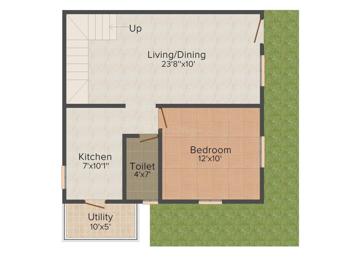 Saicare Water Front Floor Plan: 3 BHK Unit with Built up area of 1379 sq.ft 1