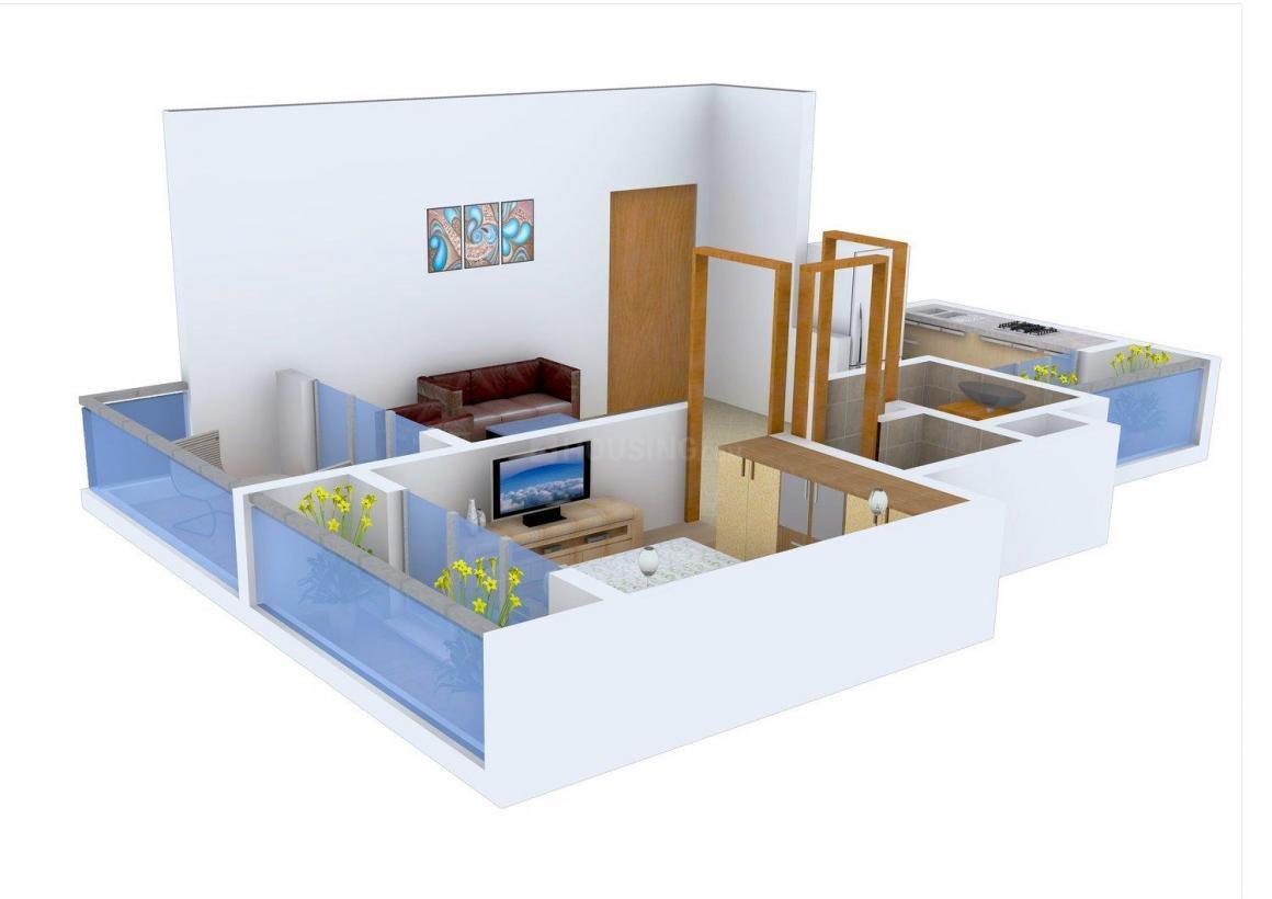 Floor Plan Image of 0 - 725.0 Sq.ft 1 BHK Apartment for buy in Shyam Vile