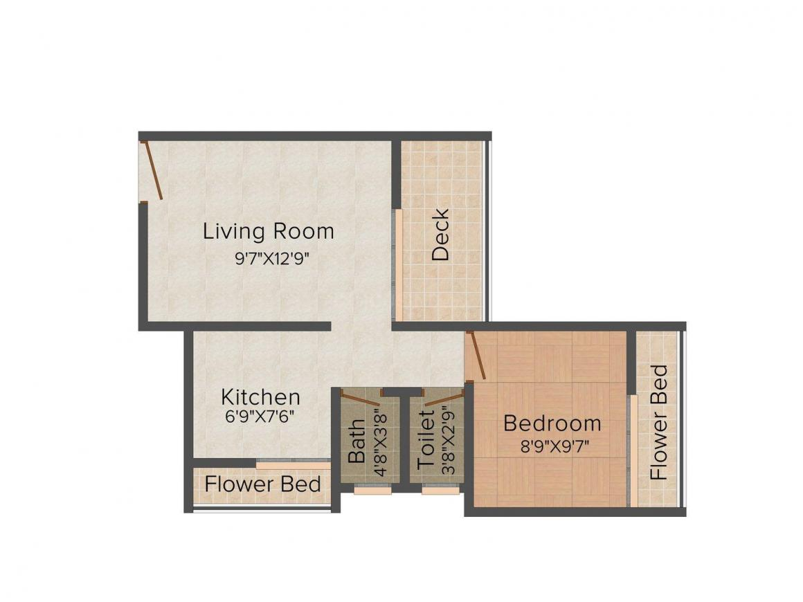 Floor Plan Image of 640.0 - 1000.0 Sq.ft 1 BHK Apartment for buy in Planet Maitri Planet NX