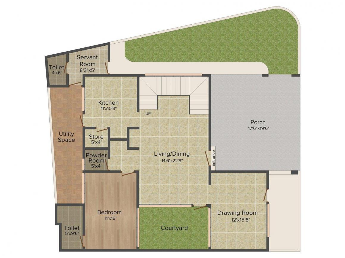 Archi 12 Bangla Floor Plan: 4 BHK Unit with Built up area of 2700 sq.ft 1