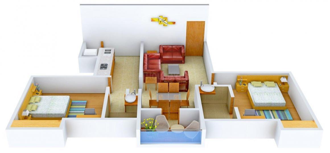 Floor Plan Image of 0 - 826.0 Sq.ft 2 BHK Apartment for buy in Jains Sri Venkateswara