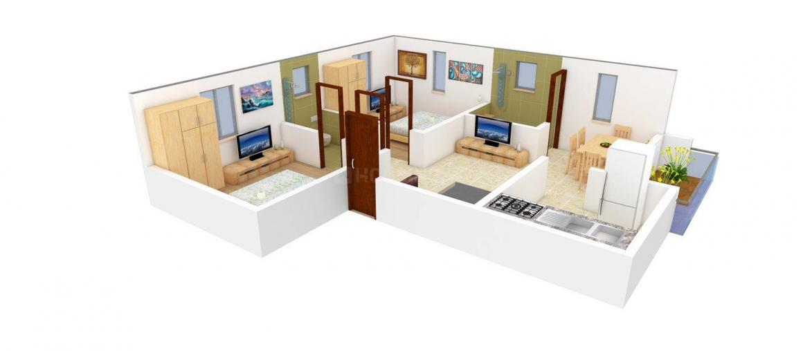 Floor Plan Image of 720.0 - 726.0 Sq.ft 2 BHK Apartment for buy in Apex Palace