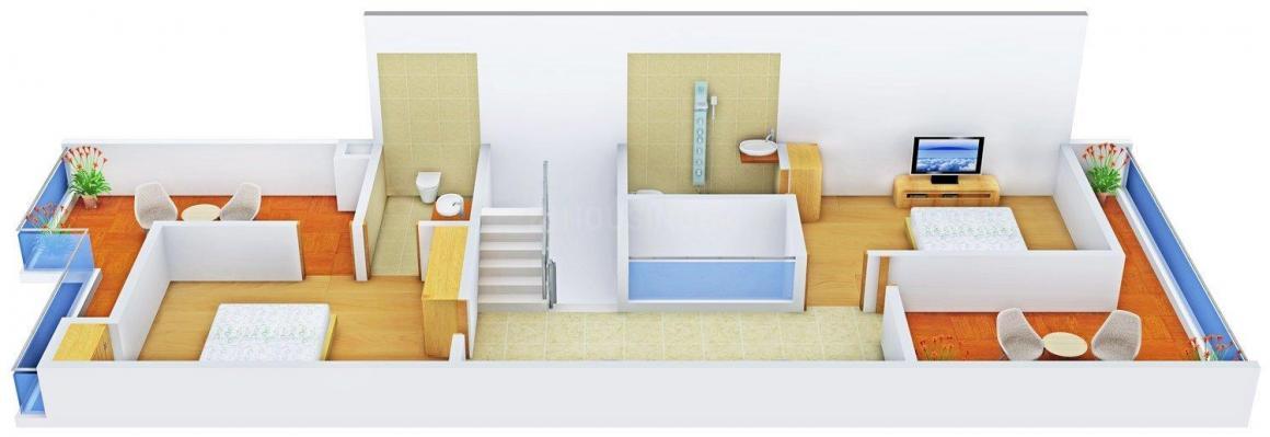 Floor Plan Image of 2863 - 3098 Sq.ft 5 BHK Row House for buy in HK Sunshine Castle 2