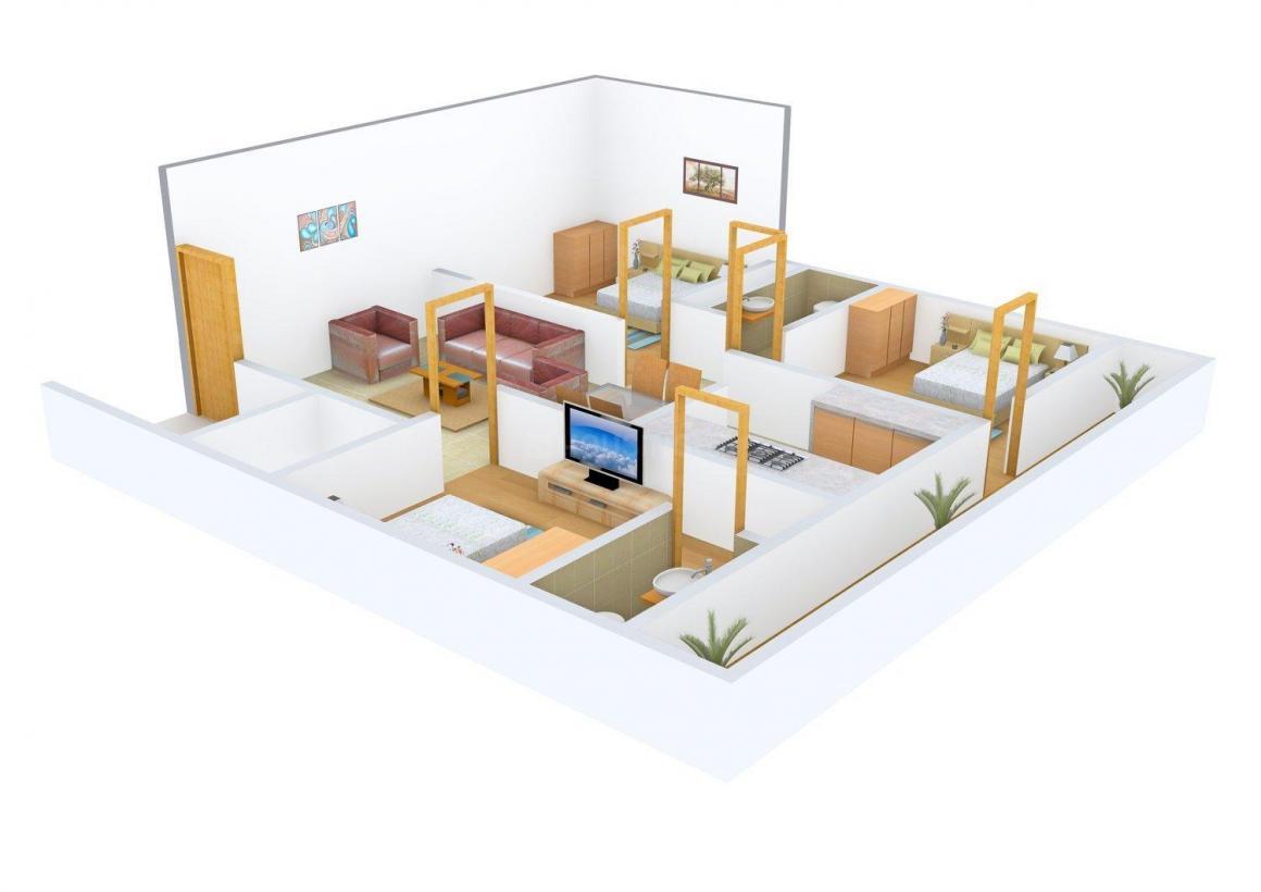 Floor Plan Image of 0 - 900 Sq.ft 3 BHK Independent Floor for buy in Gokul Dham
