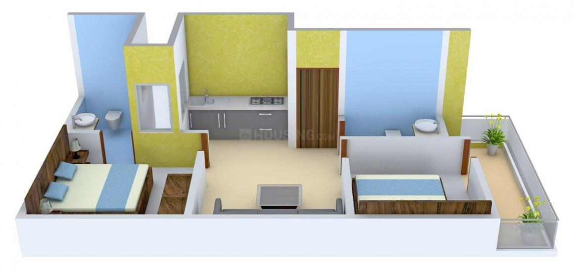 Floor Plan Image of 760 - 945 Sq.ft 2 BHK Independent Floor for buy in Renowned Srishti