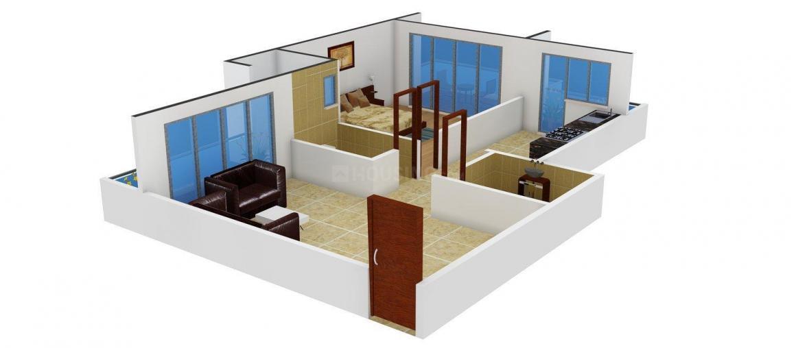Floor Plan Image of 650.0 - 1100.0 Sq.ft 1 BHK Apartment for buy in Krish Bhakti Niwas