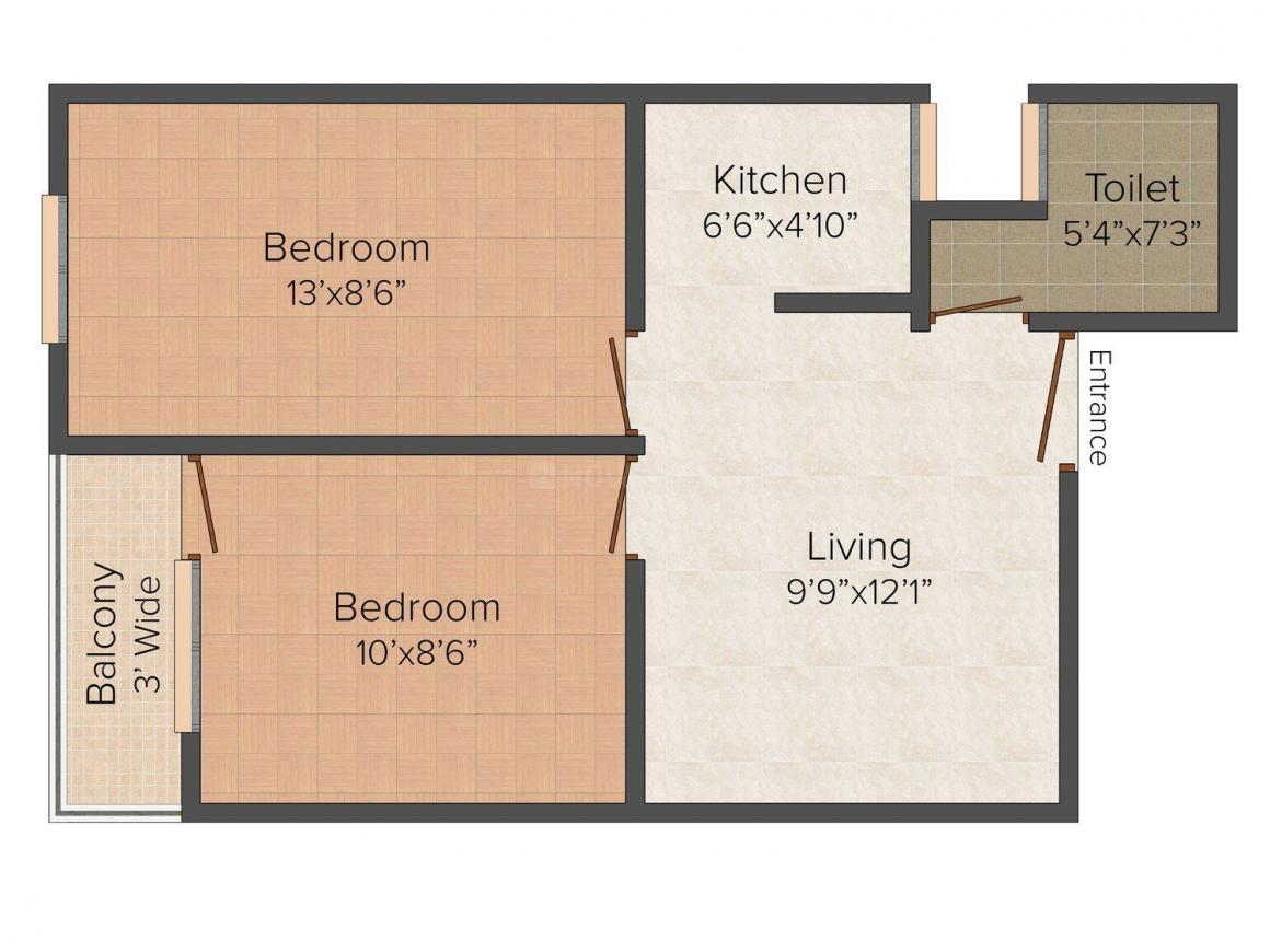 Floor Plan Image of 0 - 450 Sq.ft 2 BHK Independent Floor for buy in Singhals J
