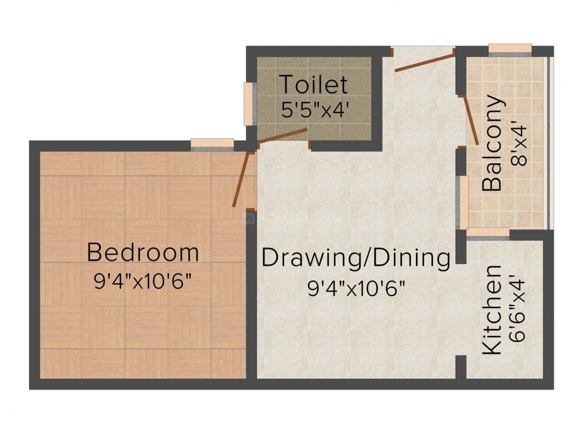 Future Tech Homes - 3 Floor Plan: 1 BHK Unit with Built up area of 430 sq.ft 1