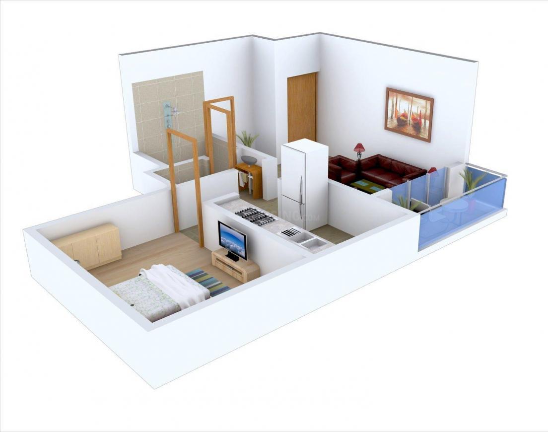 Floor Plan Image of 472.0 - 836.0 Sq.ft 1 BHK Apartment for buy in Aaditya Roop Rajat Park