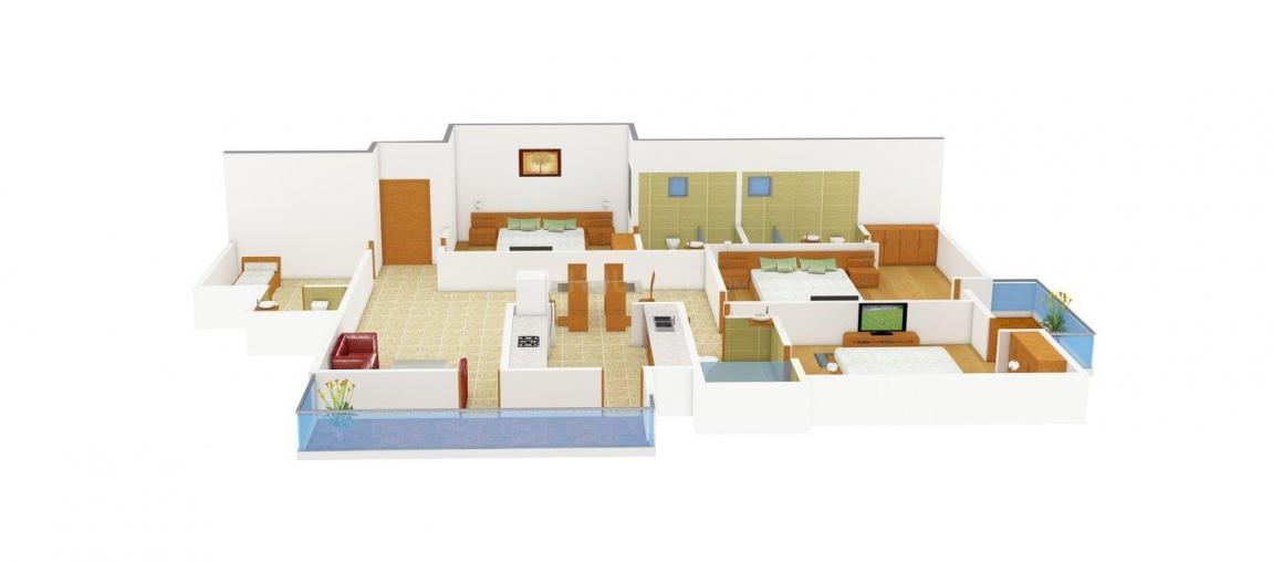 Swastik Homes - 4 Floor Plan: 3 BHK Unit with Built up area of 1700 sq.ft 1