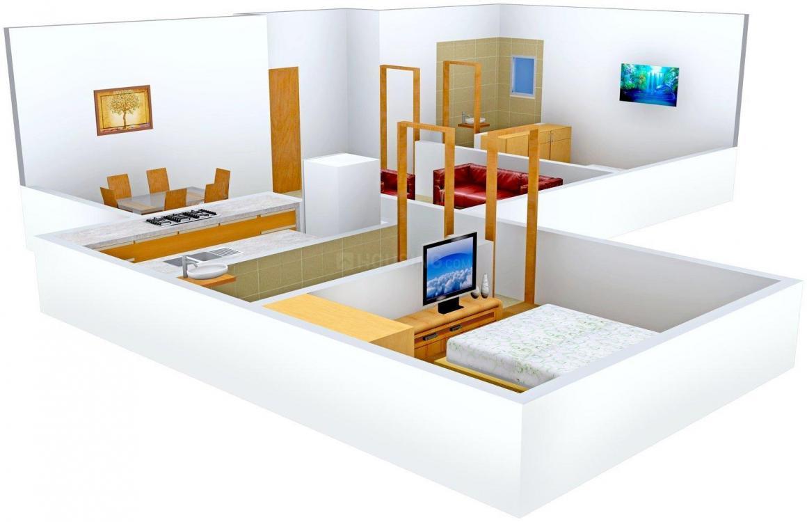 Floor Plan Image of 0 - 742.0 Sq.ft 2 BHK Apartment for buy in Metro Ishwar - Swarup