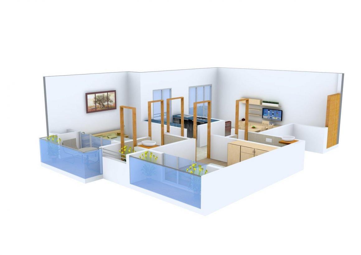 Floor Plan Image of 0 - 640.0 Sq.ft 2 BHK Apartment for buy in Ashtavinayak Sai Darshan