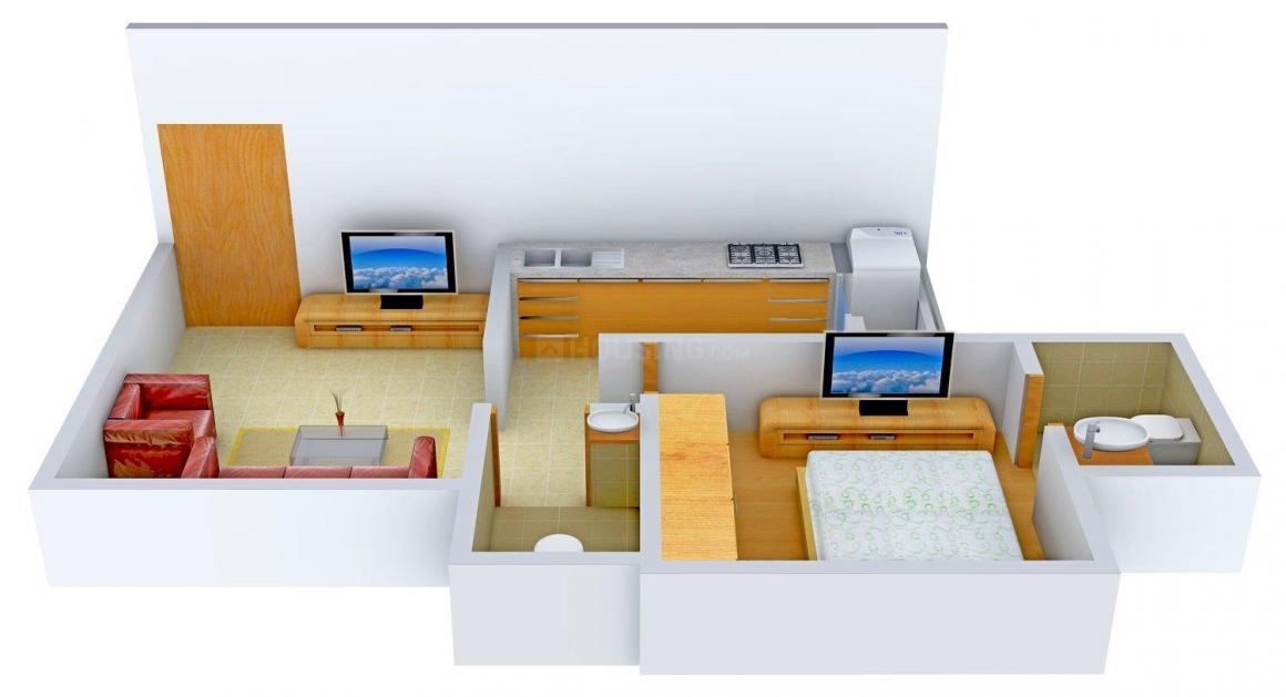 Floor Plan Image of 675.0 - 1003.0 Sq.ft 1 BHK Apartment for buy in Sagar Heights