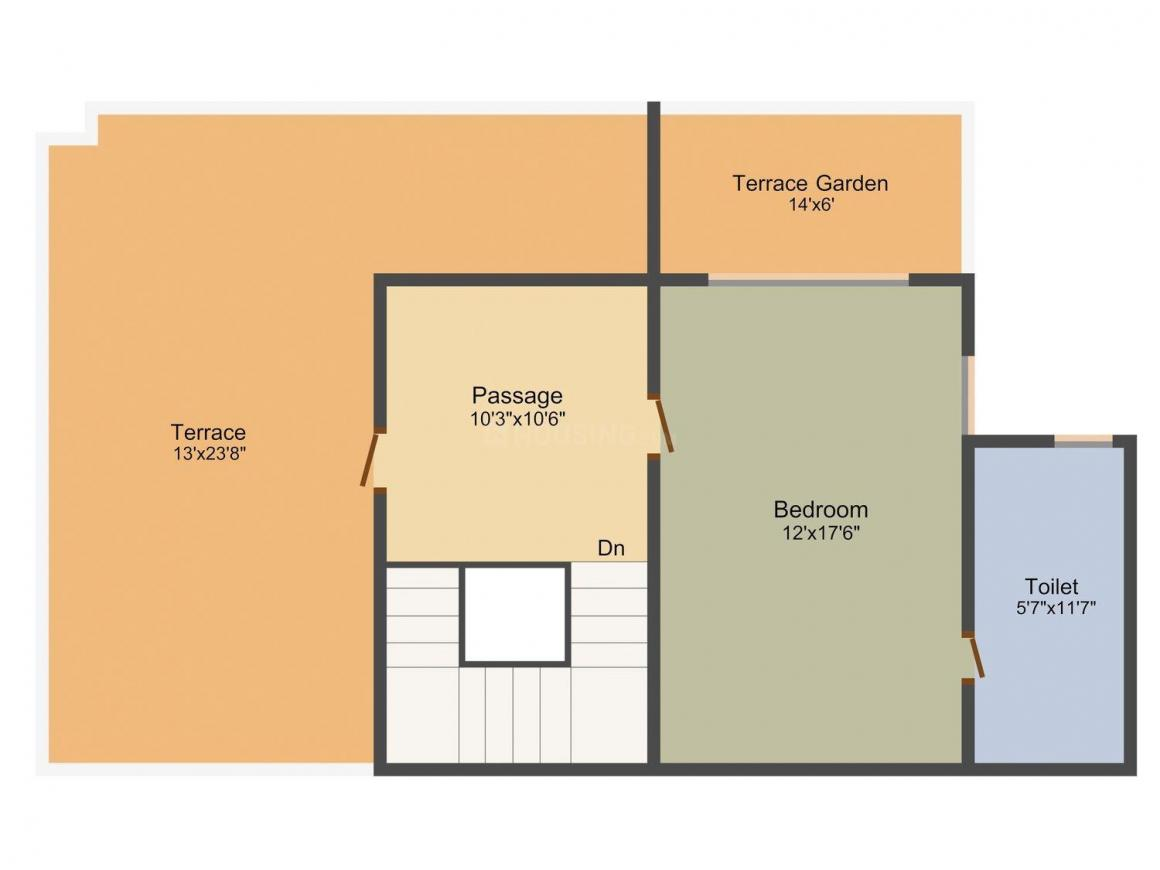 DLH Swastik Palazzo Floor Plan: 4 BHK Unit with Built up area of 2646 sq.ft 1