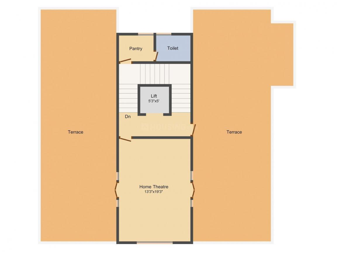 KB Grand Floor Plan: 5 BHK Unit with Built up area of 6282 sq.ft 1