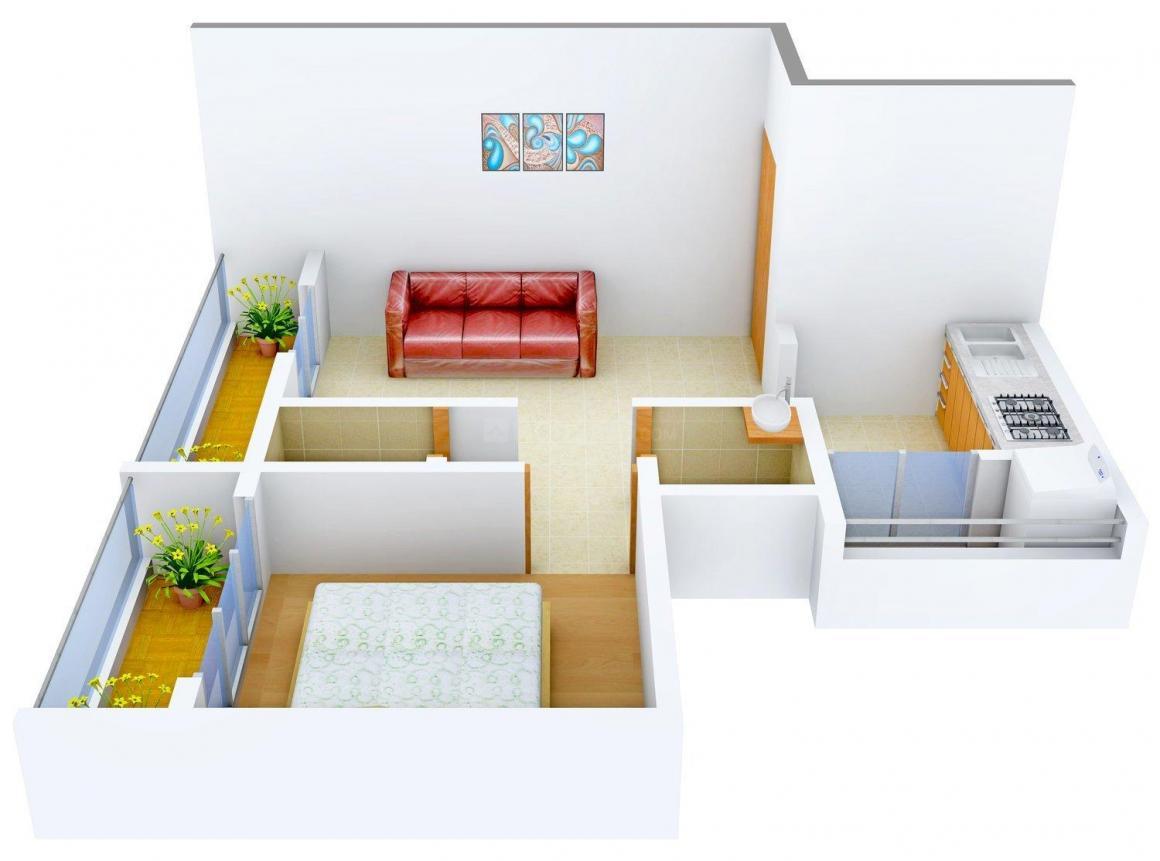Floor Plan Image of 0 - 580 Sq.ft 1 BHK Apartment for buy in Sai Regency