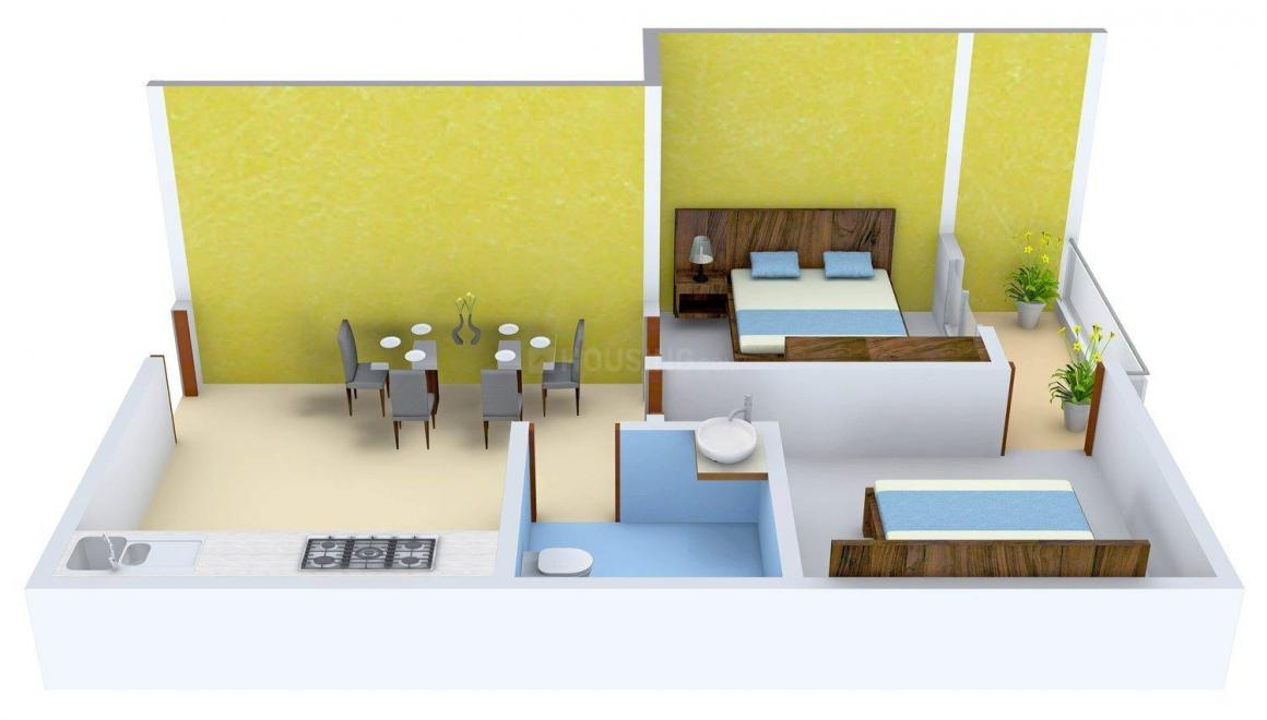 Floor Plan Image of 0 - 620 Sq.ft 2 BHK Apartment for buy in Golden Shibani Apartment