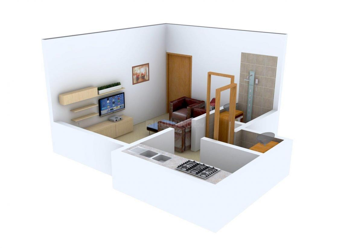 Floor Plan Image of 335 - 707 Sq.ft 1 RK Apartment for buy in Sai Exotica