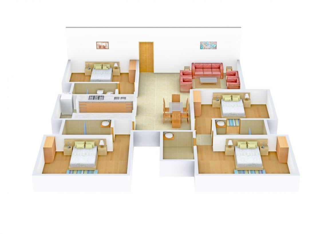 Floor Plan Image of 0 - 1362.0 Sq.ft 4 BHK Apartment for buy in Man Aaradhya Tower
