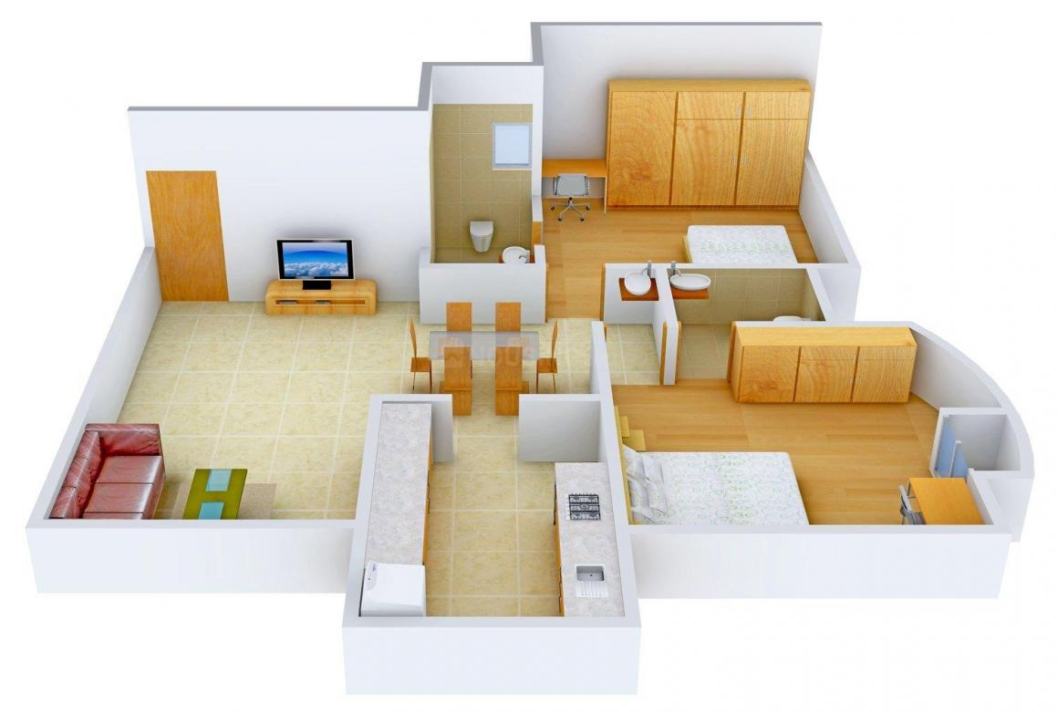 Floor Plan Image of 0 - 1400.0 Sq.ft 2 BHK Apartment for buy in Joy's Adinath Tower - 1