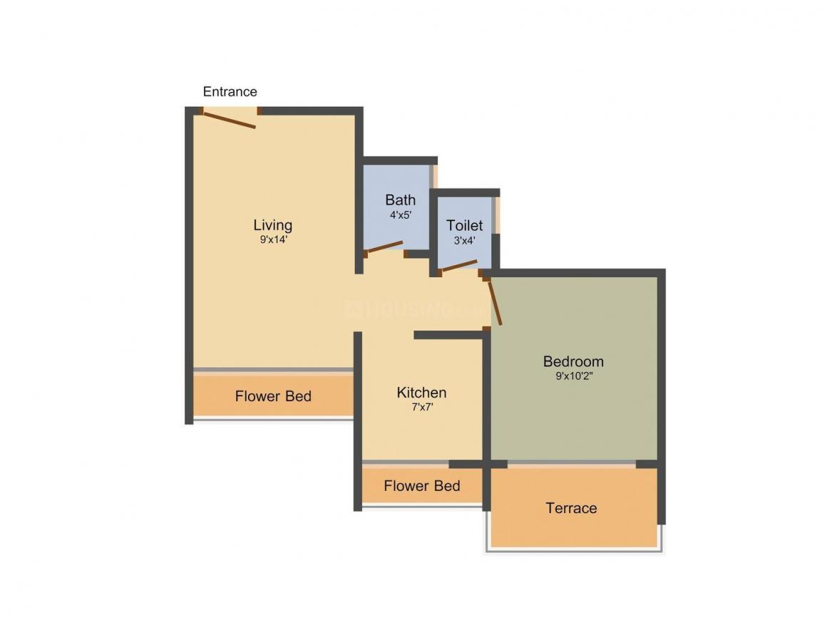 Floor Plan Image of 560 - 1000 Sq.ft 1 BHK Apartment for buy in Today Global Bliss