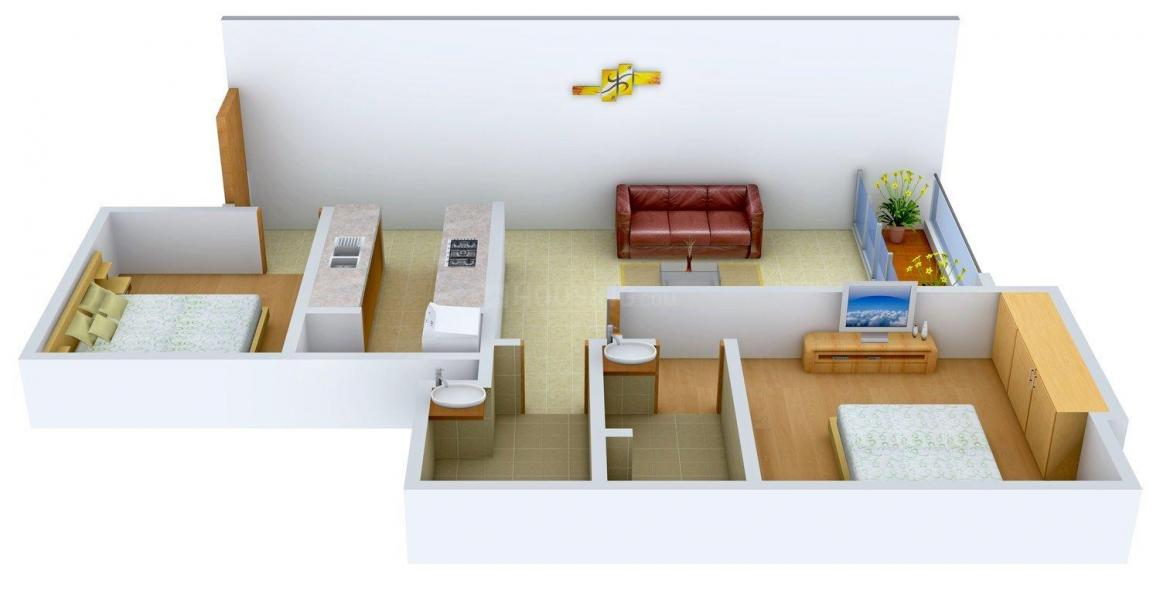 Floor Plan Image of 728 - 1952 Sq.ft 2 BHK Apartment for buy in Radius Imperial Heights
