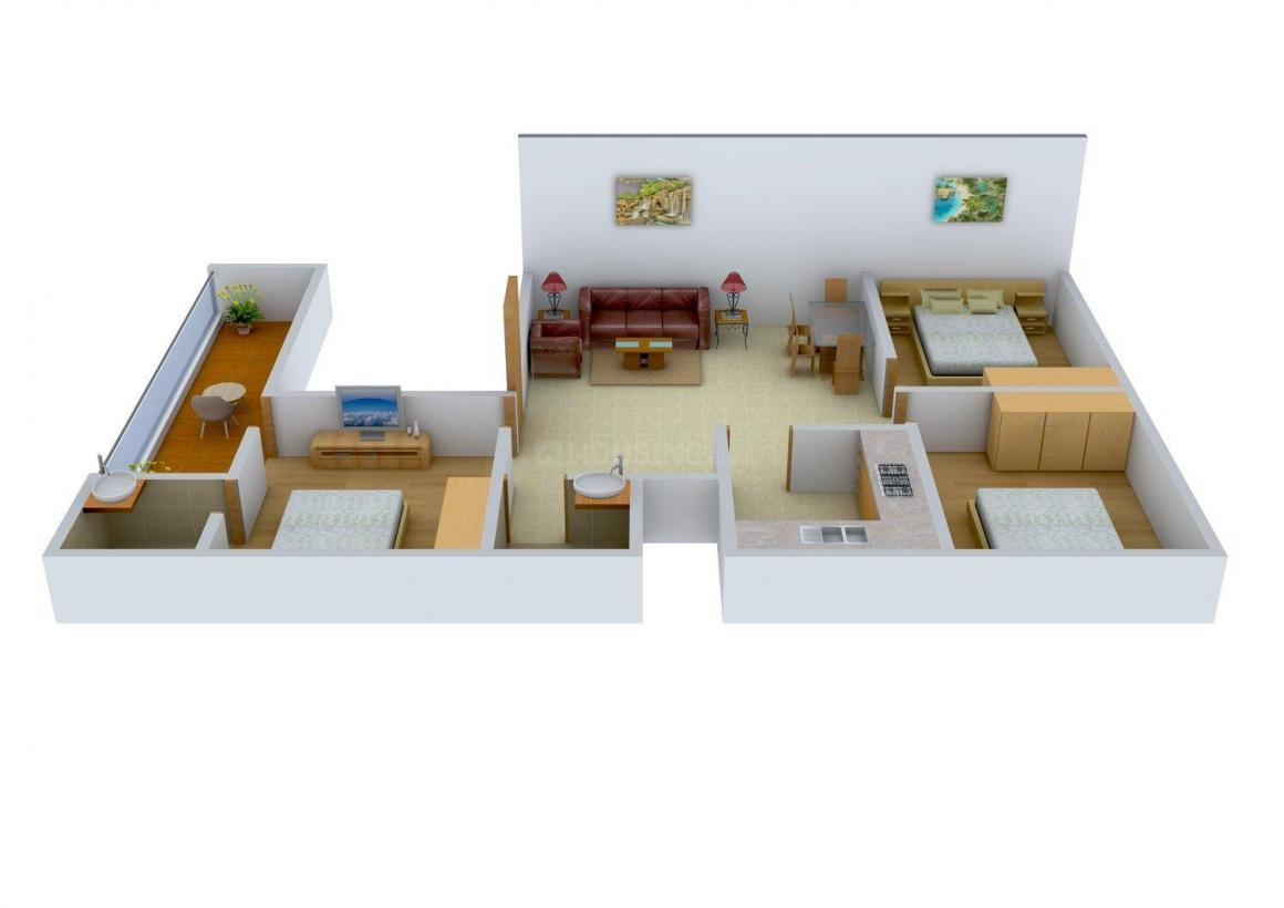 Floor Plan Image of 0 - 1100 Sq.ft 3 BHK Independent Floor for buy in Jai Laxmi Site  4