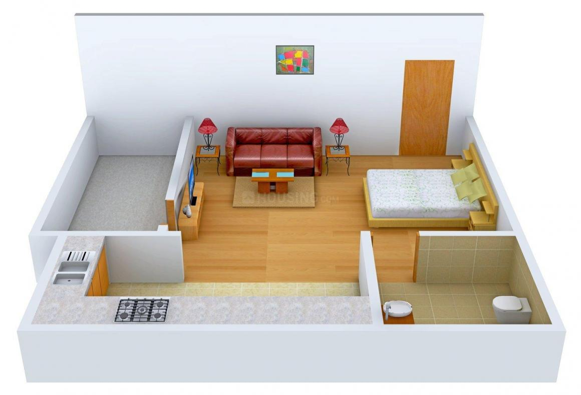 Floor Plan Image of 0 - 572 Sq.ft 1 RK Apartment for buy in Omega Business Park