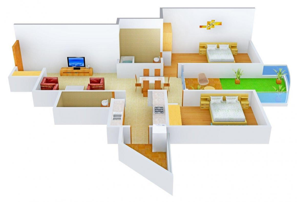 Floor Plan Image of 1485 - 1558 Sq.ft 2 BHK Apartment for buy in Nitesh Central Park