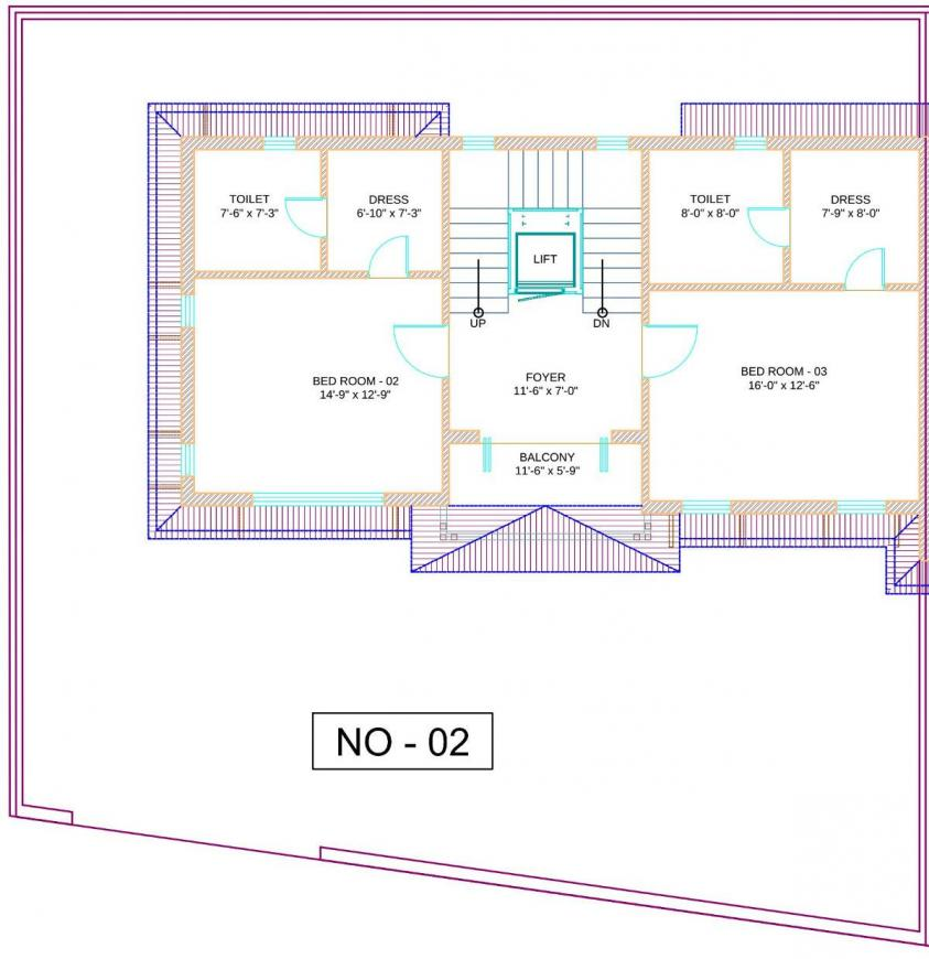 Silver Sparsh Villa Floor Plan: 4 BHK Unit with Built up area of 2207 sq.ft 1