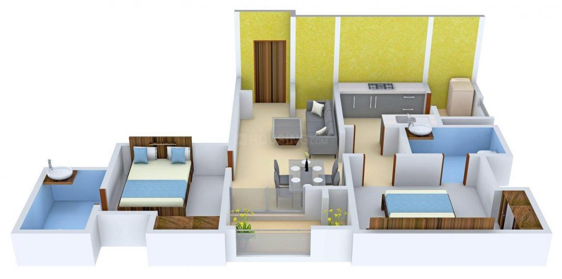 Ramani Spice Gaarden Floor Plan: 2 BHK Unit with Built up area of 1050 sq.ft 1
