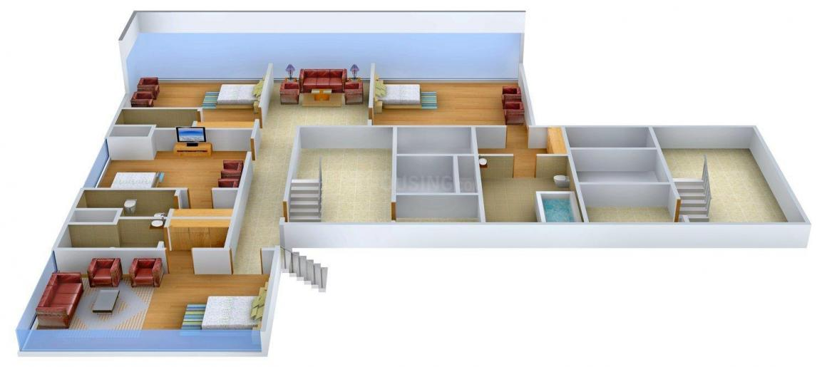 Orbit Haven Floor Plan: 5 BHK Unit with Built up area of 6000 sq.ft 1
