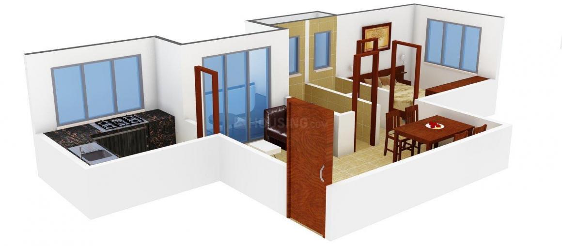 Floor Plan Image of 684.0 - 855.0 Sq.ft 1 BHK Apartment for buy in Yug Celeste