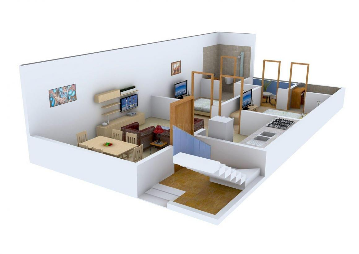 Floor Plan Image of 0 - 675 Sq.ft 2 BHK Independent Floor for buy in Eshaan Homes II