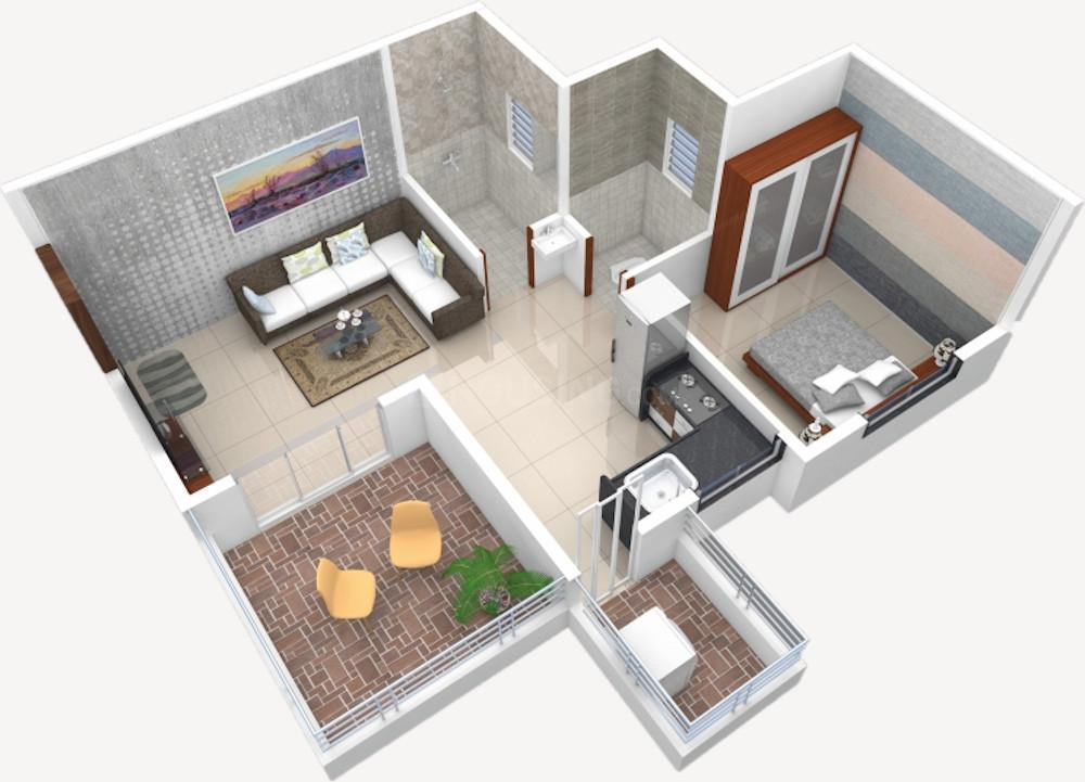 Wonder Nest Floor Plan: 1 BHK Unit with Built up area of 312 sq.ft 1