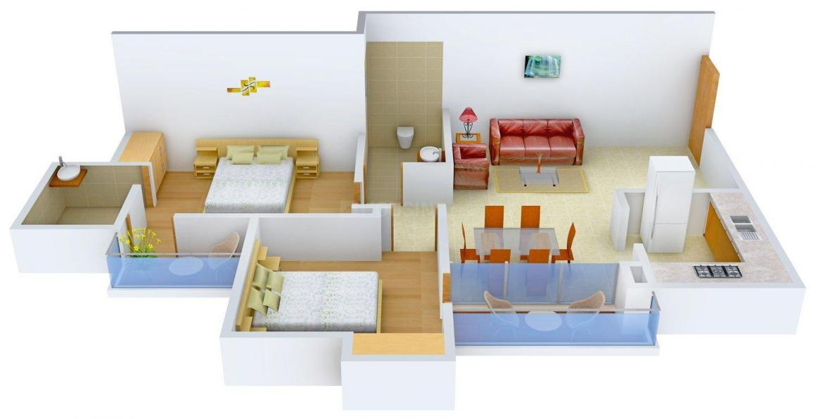 Floor Plan Image of 0 - 1190 Sq.ft 2 BHK Apartment for buy in Ashiana Lily