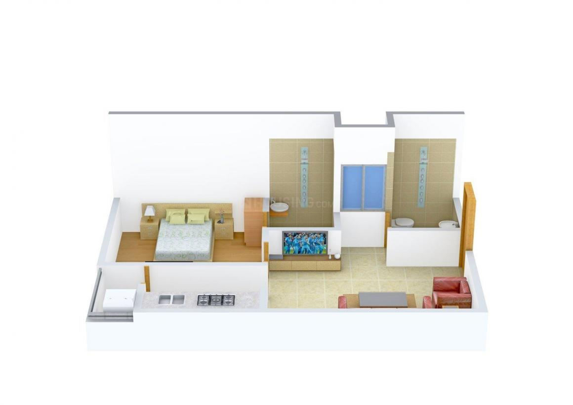 Floor Plan Image of 600 - 1810 Sq.ft 1 BHK Apartment for buy in Singapore Green View