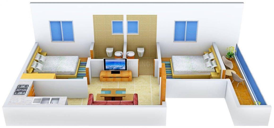 Floor Plan Image of 0 - 540.0 Sq.ft 2 BHK Independent Floor for buy in Rattan Homes 2