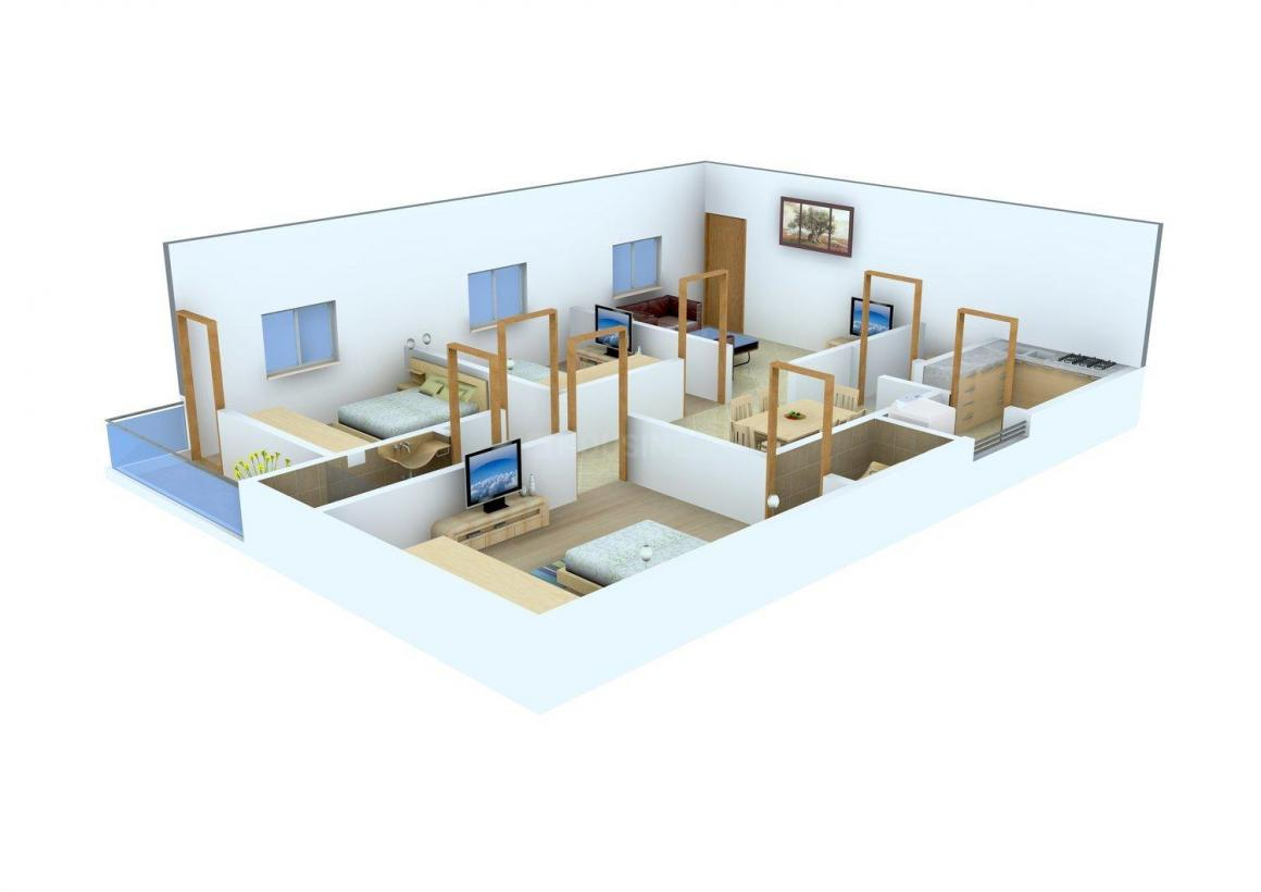 Floor Plan Image of 937 - 1460 Sq.ft 2 BHK Apartment for buy in Environ Towers