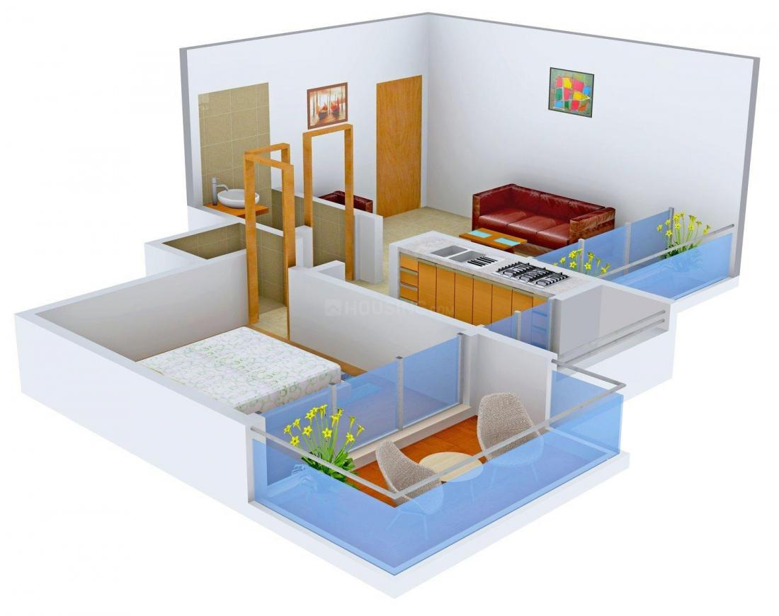 Floor Plan Image of 514.0 - 840.0 Sq.ft 1 BHK Apartment for buy in Varsha Balaji Darshan