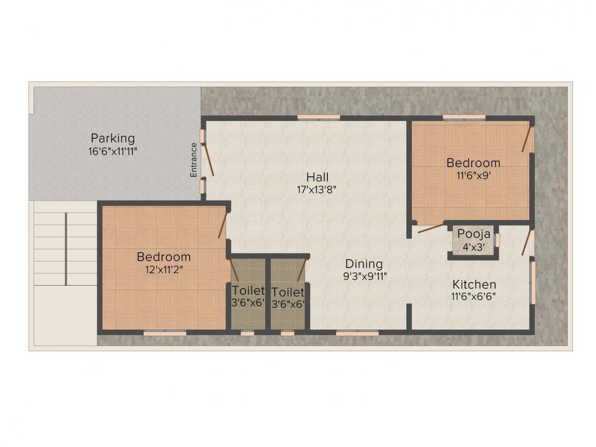 2 BHK Row House
