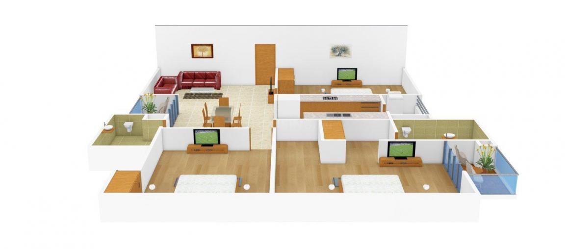 Floor Plan Image of 0 - 1450.0 Sq.ft 3 BHK Independent Floor for buy in Suviya Floors - 2