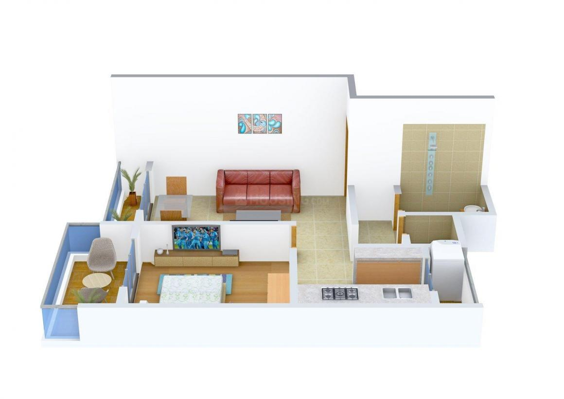 Floor Plan Image of 0 - 665 Sq.ft 1 BHK Apartment for buy in Susheel Blossom