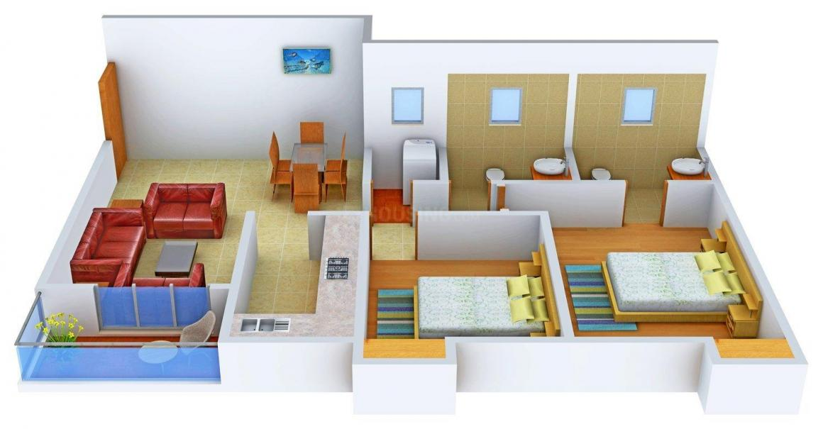 Floor Plan Image of 0 - 1165.0 Sq.ft 2 BHK Apartment for buy in Ashiana Hibiscus