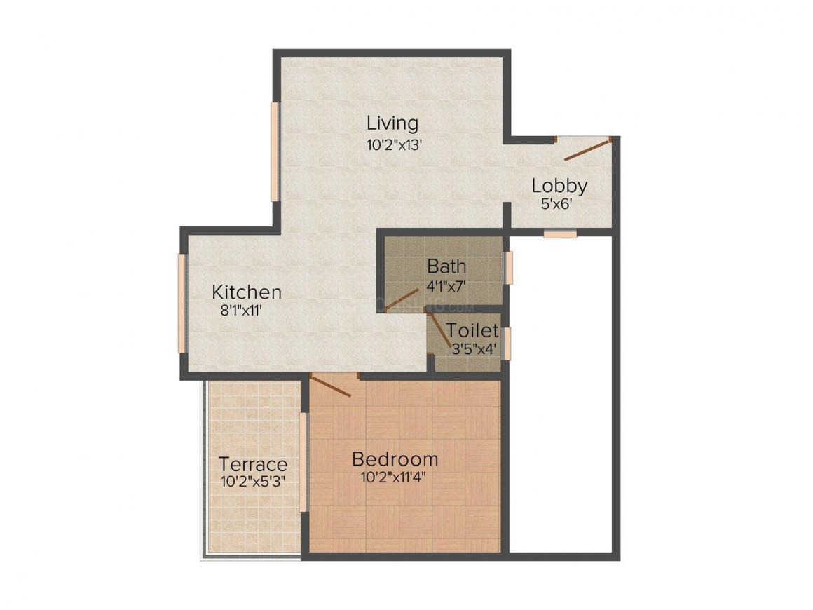 Floor Plan Image of 572.0 - 895.0 Sq.ft 1 BHK Apartment for buy in Sumangal Shiv Sparsh City