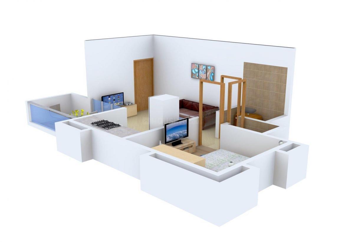Floor Plan Image of 0 - 410 Sq.ft 1 BHK Apartment for buy in Namrata Divine Classic