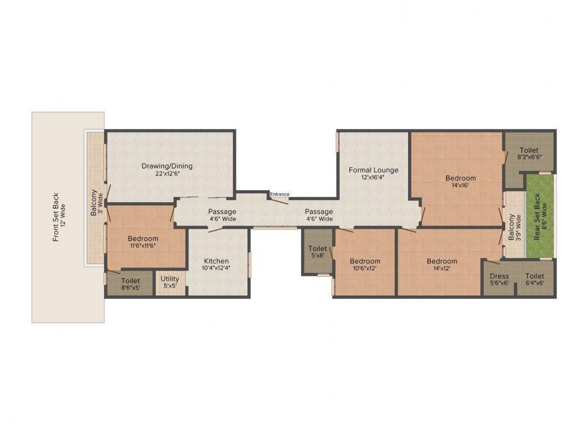 Floor Plan Image of 0 - 2700.0 Sq.ft 4 BHK Independent Floor for buy in Israni Home 6